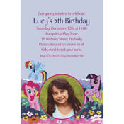 My Little Pony Friends Custom Photo Invitation