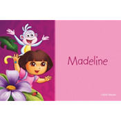 Dora Flower Fun Custom Thank You Note