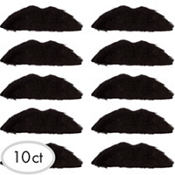 Disco Fever Moustaches 10ct