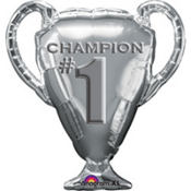 Foil Trophy Number One Balloon 31in x 34in