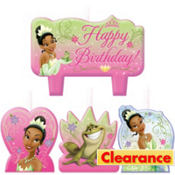 Princess and the Frog Birthday Candles 4ct