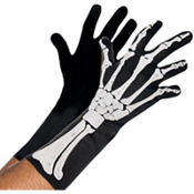 Adult Black and Bone Gloves - Skeleton
