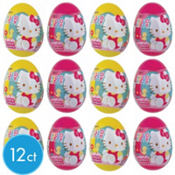 Hello Kitty Candy Eggs & Stickers 12ct
