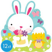 Easter Bunny & Hatching Chick Cutout 10 1/2in 12ct