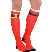 Santa Belt Knee Socks