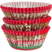 Seasons Greetings Baking Cups 75ct