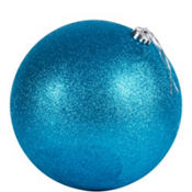 Blue Ball Christmas Ornament 8in