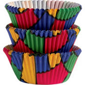 Color Block Baking Cups 75ct