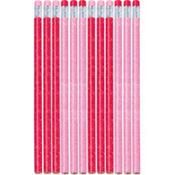 Valentine's Day Glitter Pencils 12ct