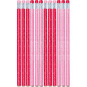 Valentine's Day Glitter Pencils 12ct