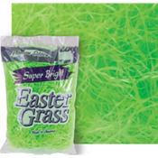 Bright Green Plastic Easter Grass