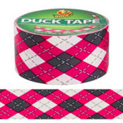 Pink Argyle Duck Tape