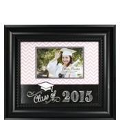 Chevron Glitter Graduation Photo Frame