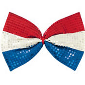 Sequin Patriotic Bow Tie