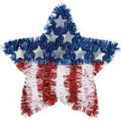 Tinsel American Flag Star