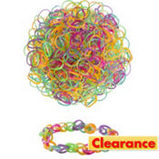 Metallic Rubber Loom Bands 300ct