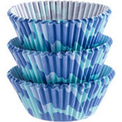 Blue Camo Baking Cups 75ct