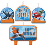 Planes Birthday Candles 4ct