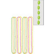 Black Light Neon Bead Necklaces 8ct