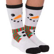 Child Snowman Crew Socks