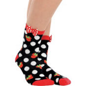 Holiday Minnie Mouse Crew Socks