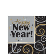 Sparkling New Year's Beverage Napkins 16ct