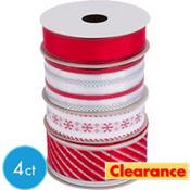 Alpine Christmas Ribbons 4ct