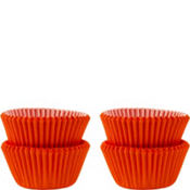 Mini Orange Baking Cups 100ct