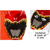 Jumbo Power Rangers Invitations Deluxe 8ct