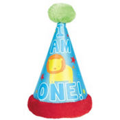Wild at One Boy's 1st Birthday Deluxe Party Hat