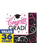Sparkling Graduation Beverage Napkins 36ct