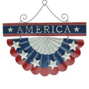 Patriotic Metal Bunting Decoration