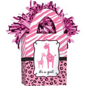 Pink Safari Baby Shower Balloon Weight