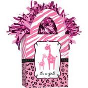 Pink Safari Baby Shower Balloon Weight