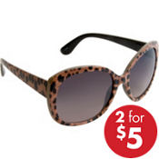 Leopard Oversized Sunglasses