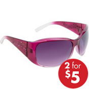 Pink Rhinestone & Black Sunglasses