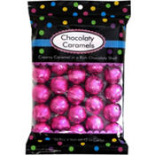 Bright Pink Chocolate Caramels 26pc