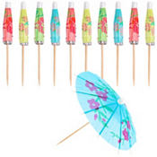 Jumbo Drink Umbrella Picks 24ct