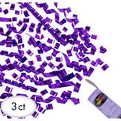 Purple Confetti Party Poppers 3ct