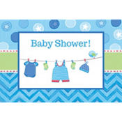 Boy Baby Shower Invitations 8ct - Shower With Love