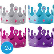 Purple & Teal Pastel Crowns 12ct