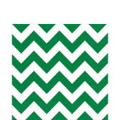 Festive Green Chevron Lunch Napkins 16ct