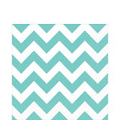 Robin's Egg Blue Chevron Lunch Napkins 16ct