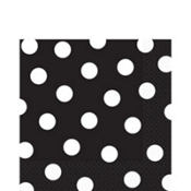 Black Polka Dot Lunch Napkins 16ct