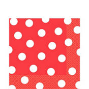 Red Polka Dot Lunch Napkins 16ct