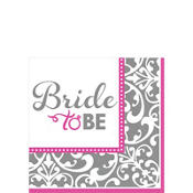 Metallic Bride to Be Beverage Napkins - Classy Bride 16ct