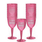 Team Bride Plastic Wine Glasses 16ct