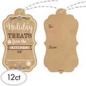 Holiday Treats Kraft Gift Tags 12ct