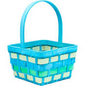 Medium Blue Wood Easter Basket