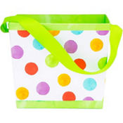Colorful Polka Dot Square Easter Basket